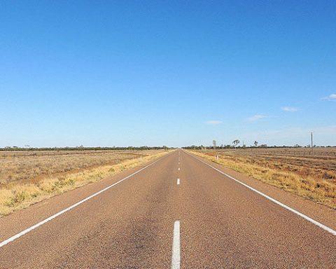 Australian road in Northern Territory