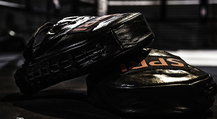 UFC boxer gloves in the ring