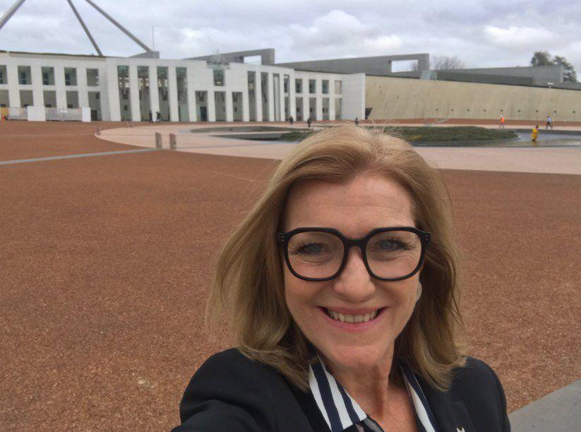 Fiona Patten taking a selfie in Canberra