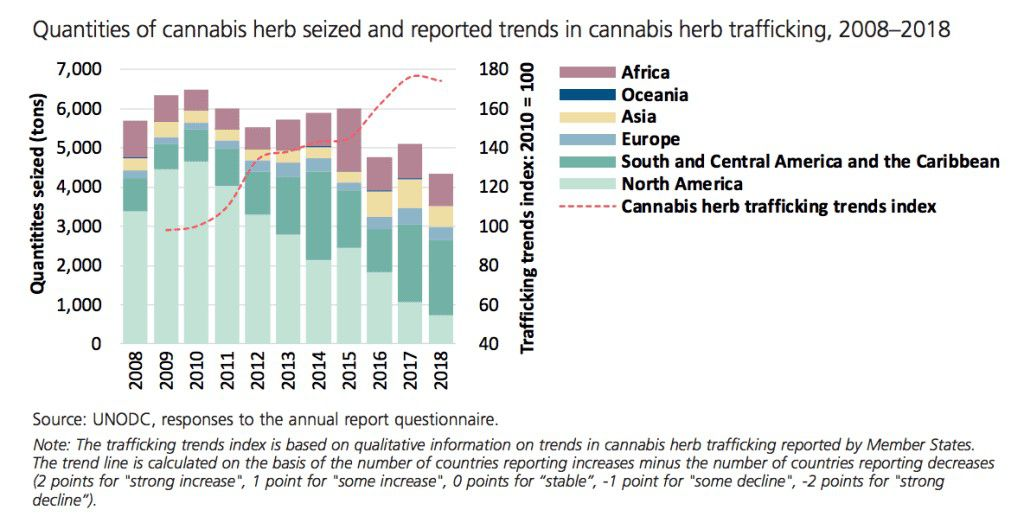 The UNs report on cannabis seizures around the world 1