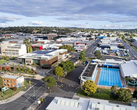 Toowoomba city in Australia