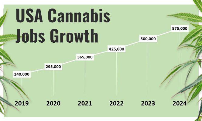 USA Cannabis jobs growth to 2024