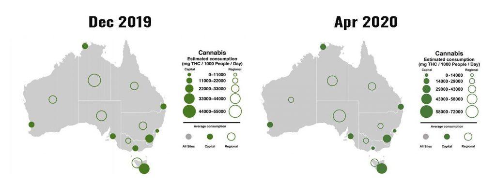 2019 to 2020 cannabis consumption in Australia