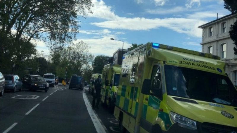 Ambulanes on scene at the school