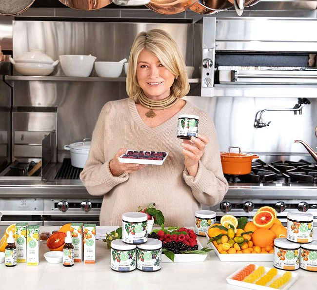 Martha Stewart and her supplement range