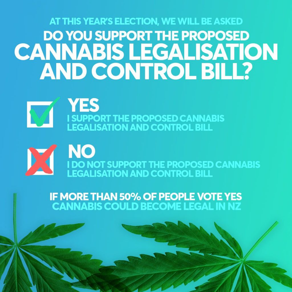 The question put to Kiwis during the cannabis referendum