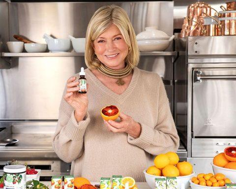 Martha Stewart with her CBD gummy bears