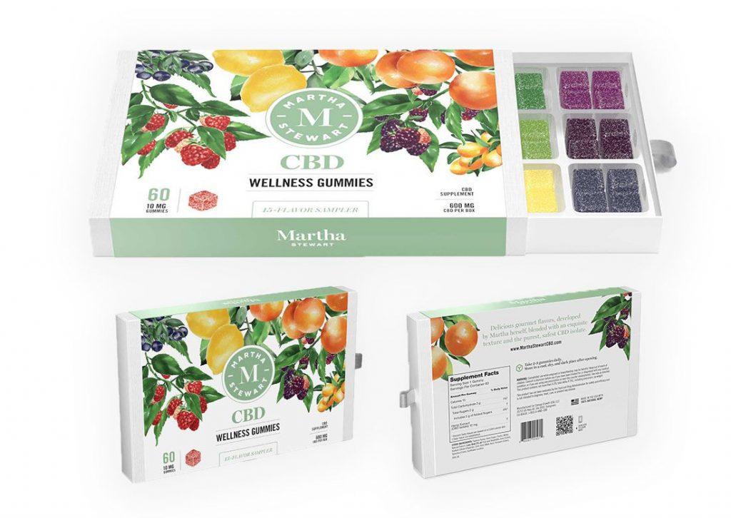 Martha Stewarts CBD gummy bears sampler box