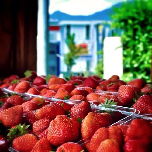 CBD lathered strawberries