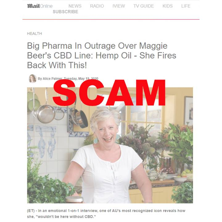 Maggie Beer CBD Oil scam