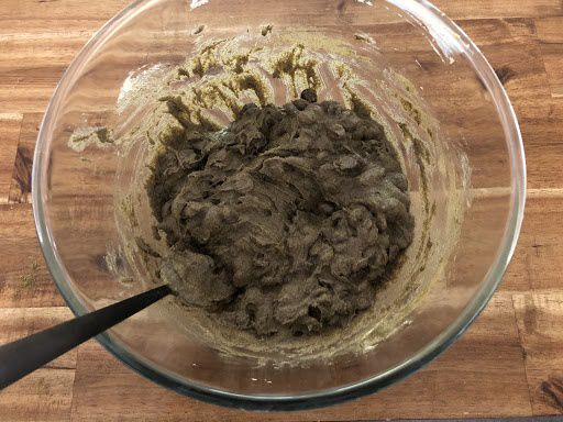 Hemp chocolate chip cookies mixture