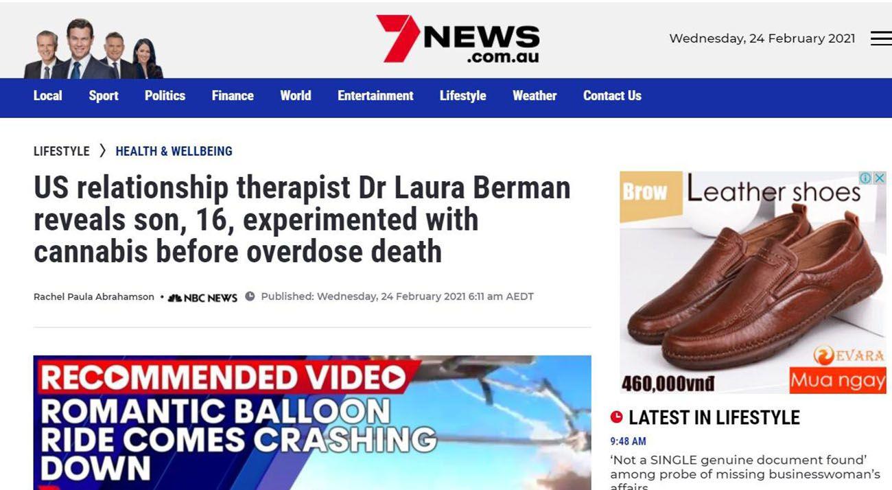 7News Australia cannabis propaganda