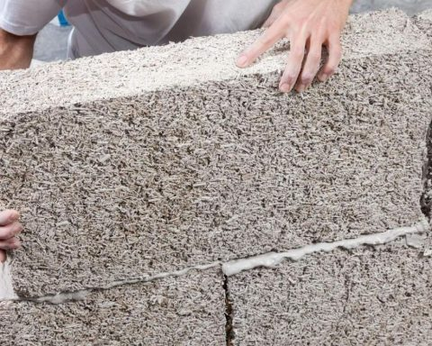 Hempcrete used in construction