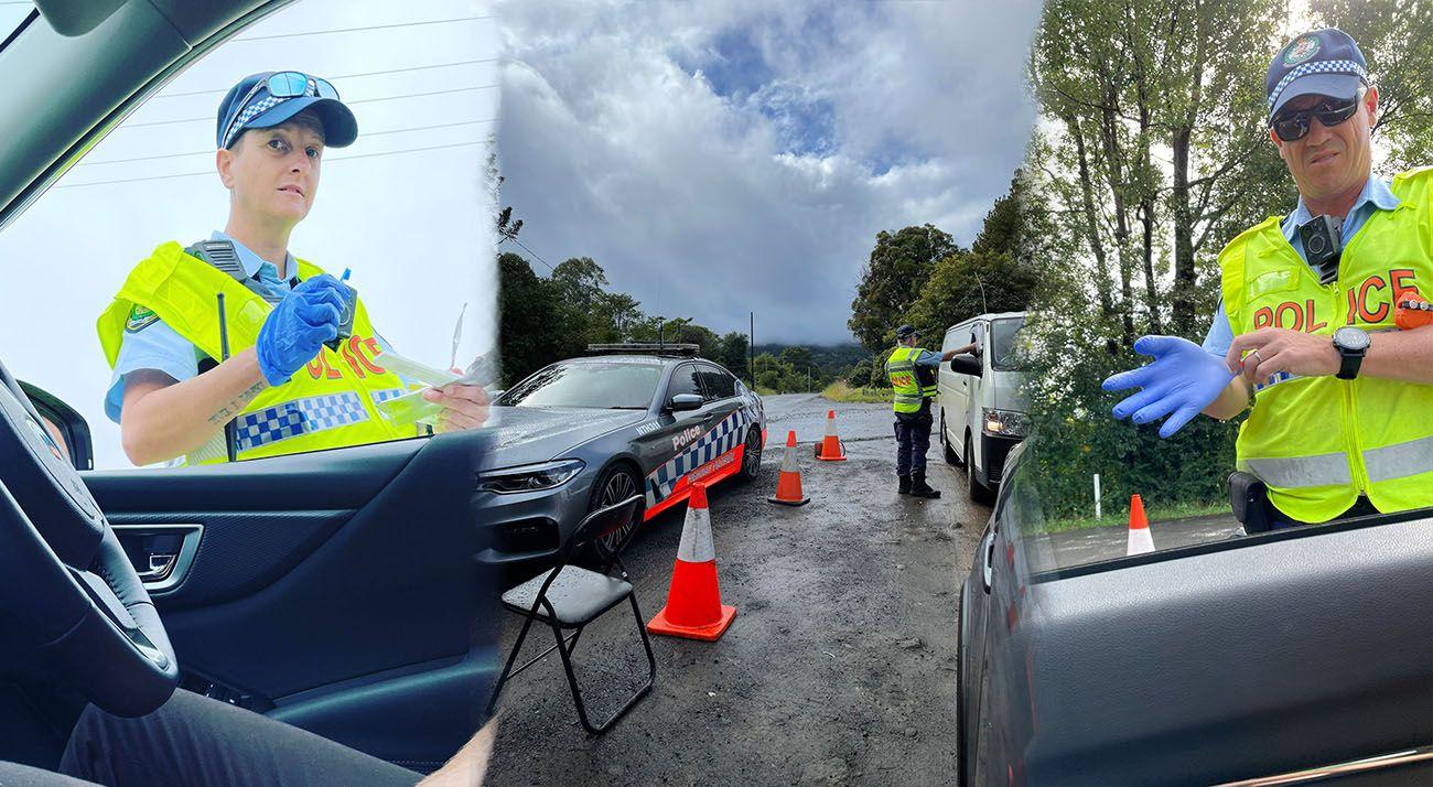 Police at MardiGrass 2021 in Nimbin Australia