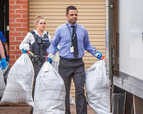 WA police officers hauling off cannabis