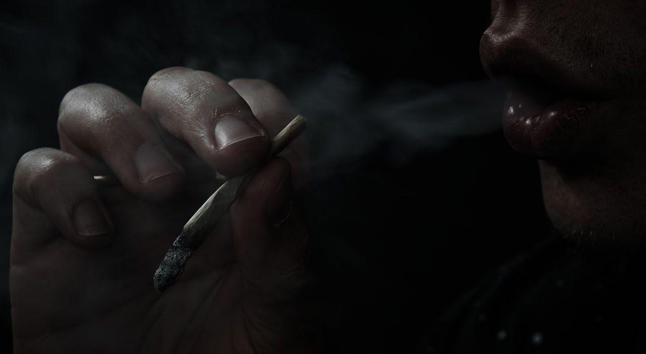 Smoking synthetic cannabis