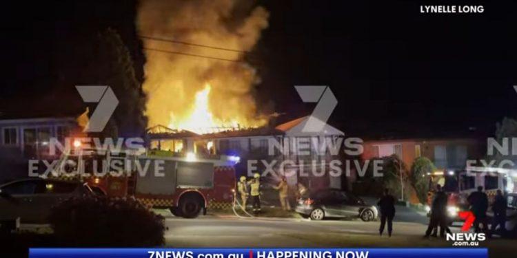 Cannabis grow house on fire in Australia