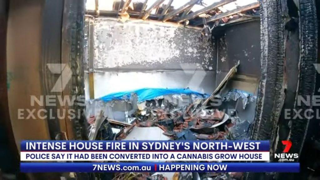 Inside the burned down grow house