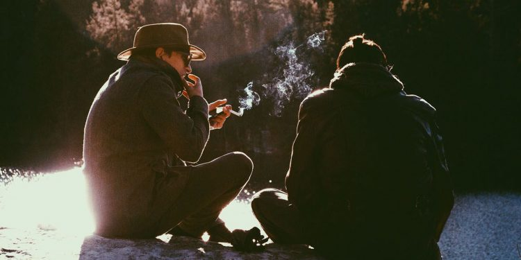 People smoking cannabis together