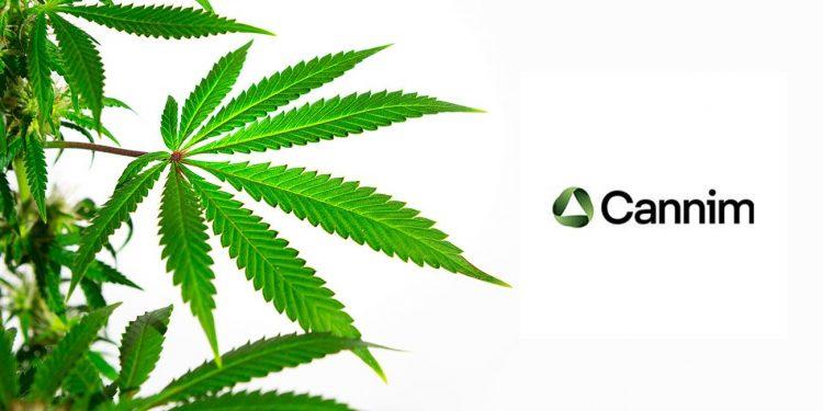 Cannim Logo next to a cannabis leaf